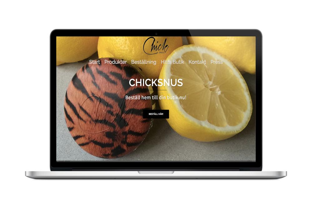 Chicksnus.com Webbsida